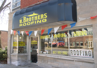 W. Brothers Roofing, Palatine Illinois Showroom