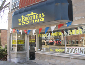 W. Brothers Roofing Showroom - Visit Our Showroom 115 W. Palatine Road, Palatine, Illinois 60067